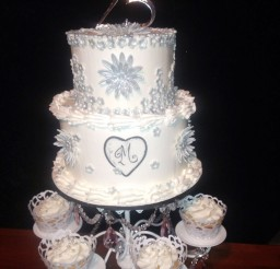 1024x1365px 25th Wedding Anniversary Cake Picture in Wedding Cake