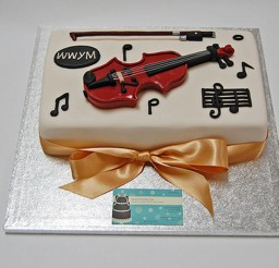 1024x680px Beautiful Violin Birthday Cakes Picture in Birthday Cake