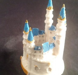 1024x1335px Blue Cinderella Castle Wedding Cake Toppers Picture in Wedding Cake