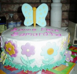 1024x768px Butterfly Birthday Cake Picture in Birthday Cake