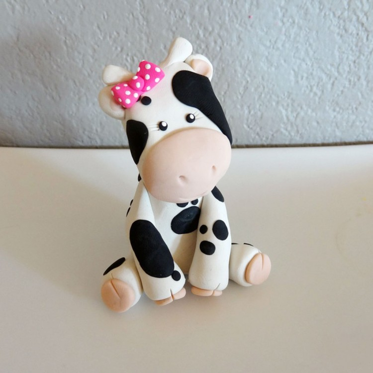 Custom Cow Cake Topper For Birthday Picture in Birthday Cake