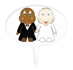 1024x1024px Cute Cartoon Bride And Groom Wedding Cake Topper Picture in Wedding Cake