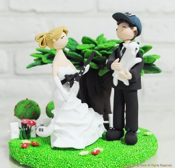 1024x1024px Golf Custom Wedding Cake Topper Picture in Wedding Cake