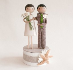 1024x1024px Starfish Beachside Wedding Cake Topper Picture in Wedding Cake