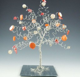 1024x1024px Wedding Tree Cake Topper Sculpture Orange And Silver Picture in Wedding Cake