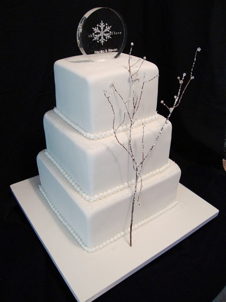 Winter Themed Wedding Cakes Photo Picture in Wedding Cake