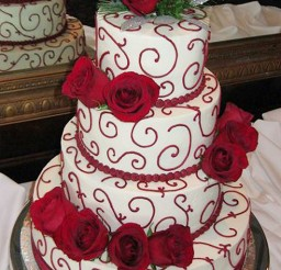 1024x1614px Four Tiers Christmas Wedding Cake Picture in Wedding Cake