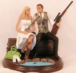 1024x1026px Hunting Wedding Cake Toppers Cheap Picture in Wedding Cake