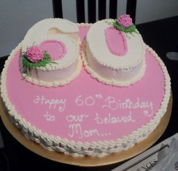 1024x768px Pink 60th Birthday Cake Ideas Picture in Birthday Cake