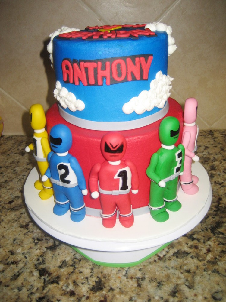 Power Rangers Childrens Birthday Cakes Picture in Birthday Cake
