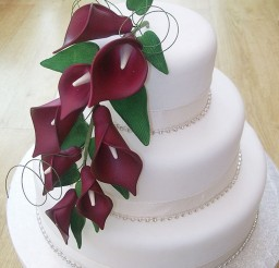 1024x1365px Red Calla Lily Wedding  Cake Design 4 Picture in Wedding Cake