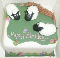 1024x683px Sheep Birthday Cake Picture in Birthday Cake