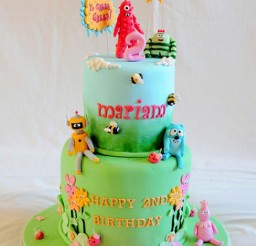 1024x1439px Two Layers Yo Gabba Gabba Birthday Cake Picture in Birthday Cake