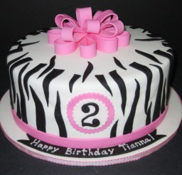 1024x768px Zebra Print Birthday Supplies Picture in Birthday Cake