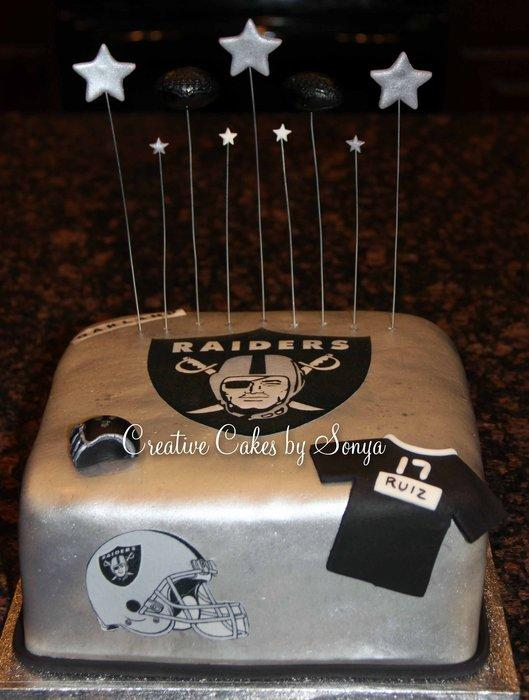 Oakland Raiders Birthday Cake Picture in Birthday Cake