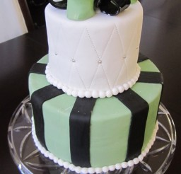 507x900px Satin Ice Black Fondant Picture in Cake Decor