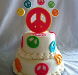 570x764px Peace Sign Cake Toppers Picture in Birthday Cake